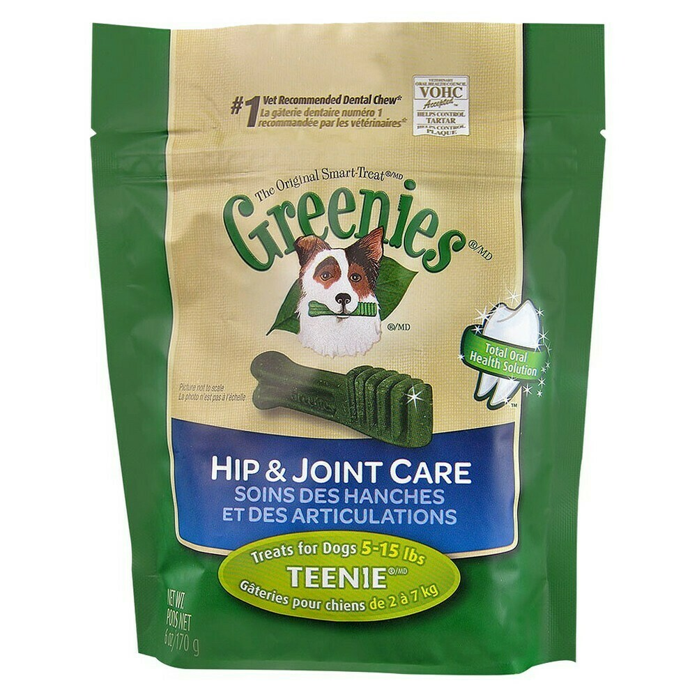 Greenies Hip & Joint Care Canine Dental Chews Teenie Dog 6 oz  (11/19)