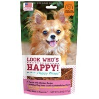 Look Who's Happy!  Grain-Free Chicken & Carrot Wrap 4 oz (8/19)