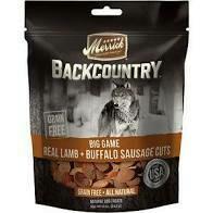 Merrick backcountry grain-free big-game real lamb plus buffalo sausage cuts all-natural dog treats 5 ounces (10/19)