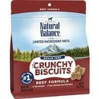 Natural balance limited ingredient diets grain free crunchy biscuits beef formula treats for dogs of all sizes 10 ounces ( 2/20)