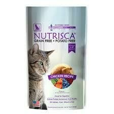 Nutrisca Catswell Chicken Recipe Dry Cat Food 4 lbs (2/20)