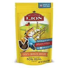 My Little lion soft meaty cat treats grain free under 2 cal per treat Lincoln chicken recipe 2.65 ounces (3/20)