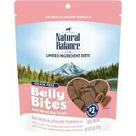 Natural balance belly bites salmon and lagoon formula for all breeds puppies and adults grain free 6 ounces (10/19)