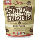 Primal Venison Nuggets Grain-Free Raw Freeze-Dried Cat Food 14 oz bag (6/20)