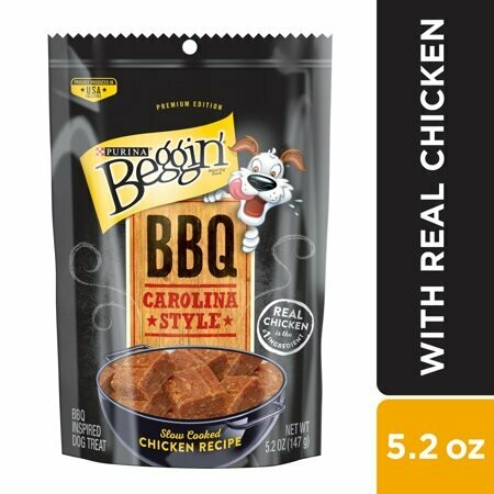 Purina bag and barbecue Carolina style slow-cooked chicken recipe dog treats 5.2 ounces (1/20)