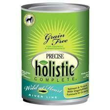 Precise Pet Holistic Complete Grain-Free Wild at Heart River Line Salmon & Trout Wet Dog Food 13 oz 12 count (7/20)