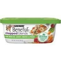 Purina Beneful all chopped blends with lamb brown rice tomatoes and Spanish wet dog 10 ounces 1 TUB ONLY (6/19)