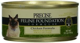 Precise Feline Foundation Chicken Wet Cat Food 5.5 oz 24 count (9/20)