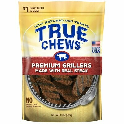 True Chew Premium Grillers with Real Steak Dog Treats 10 oz (6/19)