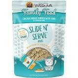 Weruva Slide N' Serve Family Food Chicken Breast Dinner with Tuna Pate Grain-Free Cat Food Pouches, 2.8 oz 12 Count (6/20)
