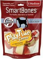 SmartBones PlayTime Chews Chicken Med 5 Count