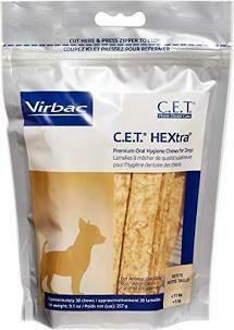 VIR BAC c.e.t. Home dental care premium oral hygiene shoes for dogs petite less than 11 pounds 30 count 9.1 ounces (10/19)