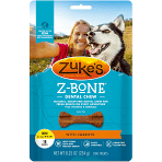 ZUKE'S Z-BONE dental to with carrots many for dogs 10 to 25 pounds 18 count 8.25 ounces dog treats (1/20)