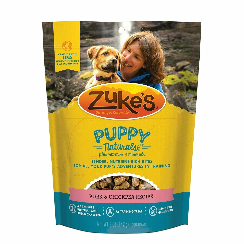 "zuke""s puppy naturals pork and chickpea recipe 5 ounces (6/19)"
