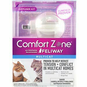 Pet Comfort Zone With Feliway Multicat Diffuser Kit Calming 48ml 30day