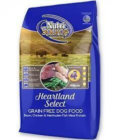 NutriSource Heartland Grain-Free Bison, Chicken & Fish Dry Dog Food 5 lbs (7/20)