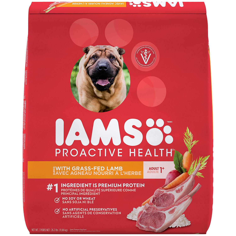 Iams Lamb Meal & Rice Formula Adult Dog Food, 26.2 lbs (07/18) (A.A2))