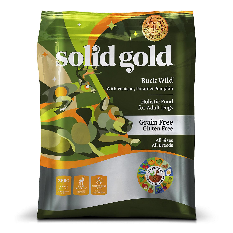 Solid Gold Buck Wild Venison, Potato & Pumpkin Grain Free Adult Dog Food, 4 lbs. (6/19) (A.N8)