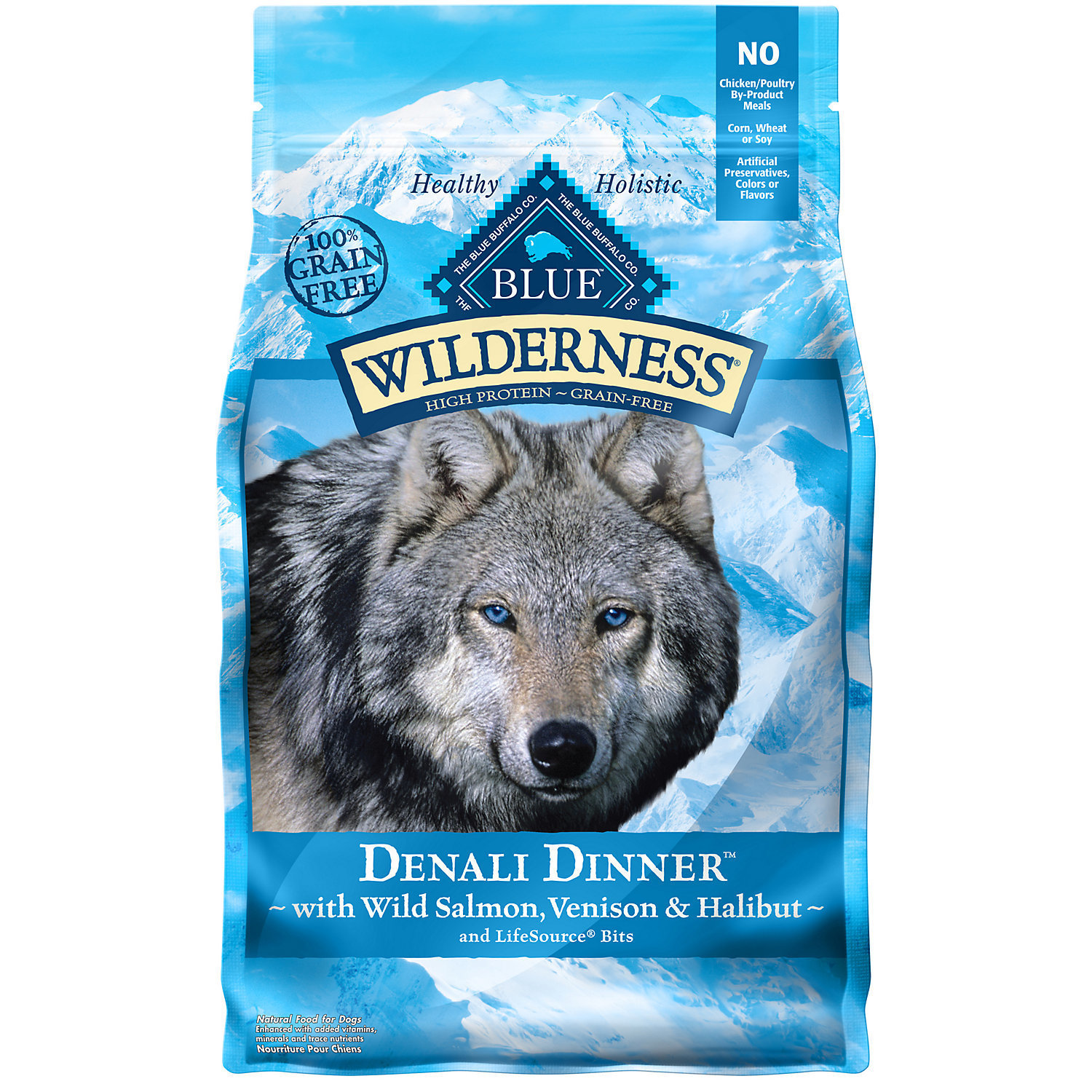 BLUE Wilderness Denali Dinner with Wild Salmon, Venison, & Halibut Dry Dog Food, 4 lb.