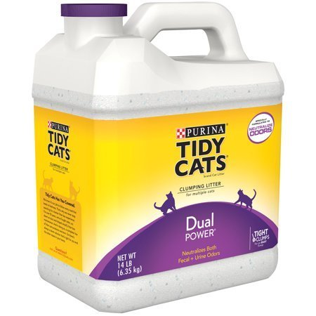 Purina Tidy Cats Clumping Litter Dual Power for Multiple Cats 14 lbs (A.P7)