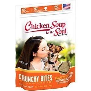 Chicken Soup For The Soul Crunchy Bites Peanut Butter Dog Treats, 12 Oz (6/19)  (A.C9)