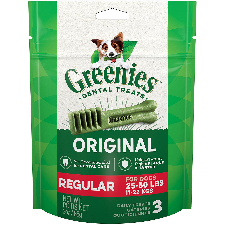 Greenies Regular Dental Dog Treats, 3 oz. (6/19)  (T.A1)