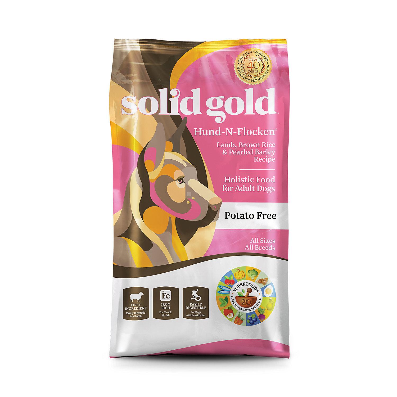 Solid Gold Hund-N-Flocken Lamb, Brown Rice & Pearled Barley Adult Dog Food, 15lbs  (9/18) (A.N4)