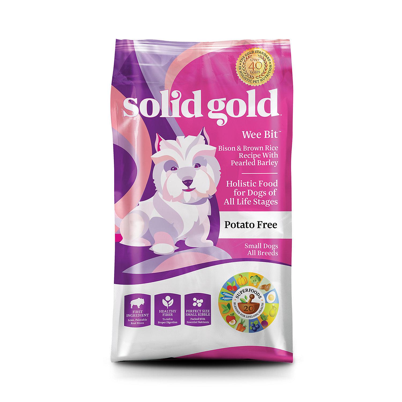 Solid Gold Wee Bit Bison, Brown Rice & Pearled Barley Dog Food, 12 lbs. (9/18)  (A.J4)