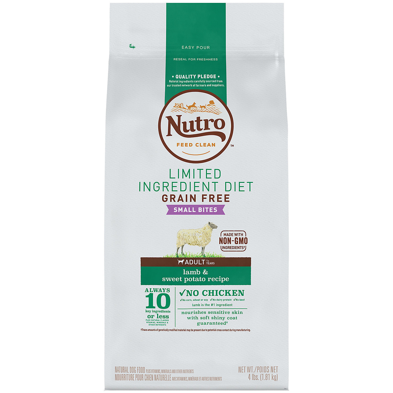 Nutro Limited Ingredient Diet Small Bites Adult Lamb & Sweet Potato Dog Food 4 lbs  (11/18) (A.M2)
