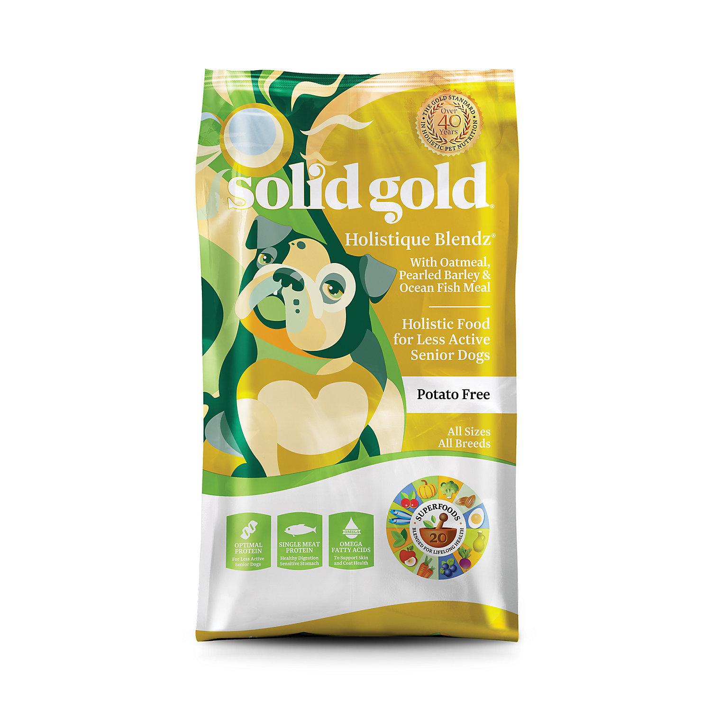 Solid Gold Holistique Blendz Oatmeal, Pearled Barley & Ocean Fish Meal Adult Dog 4 LBS. (9/18) (A.I3)