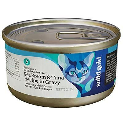 Solid Gold Five Oceans Holistic Grain Free Wet Cat Food, Sea Bream And Tuna (9/18) (A.K4)