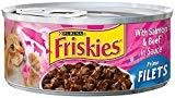 Friskies Prime Filet Salmon/Beef 5.5 oz 24 count (8/19) (A.J2)
