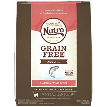 Nutro Natural Choice Grain Free Salmon & Potato Adult Cat Food, 3 lbs. (11/18) (A.J1)