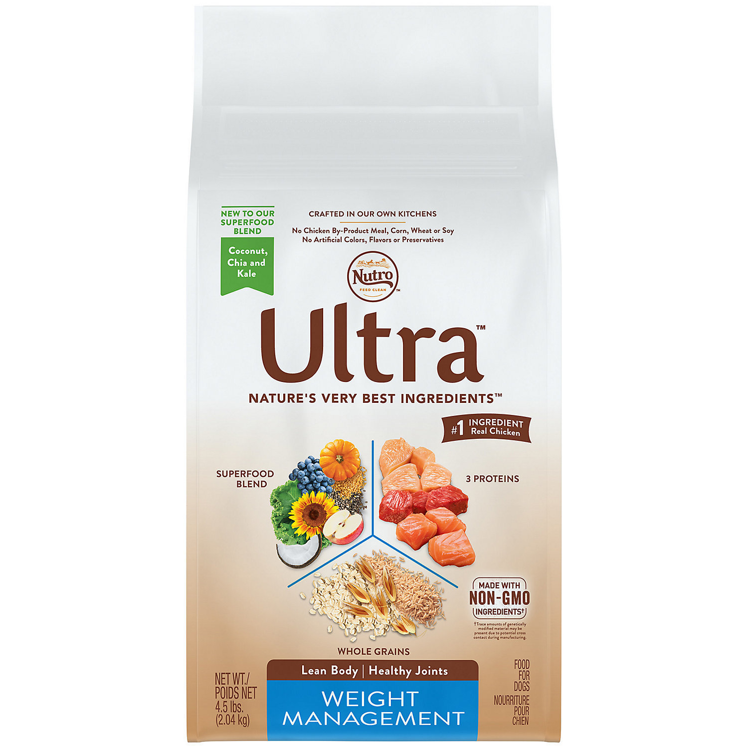 Nutro Ultra Weight Management Adult Dry Dog Food, 4.5 lbs. (12/18) (A.I2)