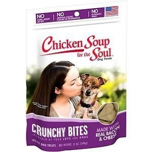 Chicken Soup For The Soul Crunchy Bites Bacon/cheese Dog Treats, 12 Oz (6/19) (T.C9/DT)