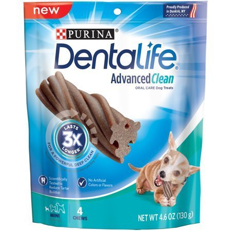 Purina DentaLife Advanced Clean Oral Care Mini Dog Treats 4 ct Pouch (11/18) (T.A3/DT)