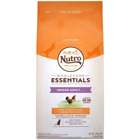 Nutro Wholesome Farm-Raised Chicken & Brown Rice Recipe Dry Cat Food - 6.5lb (12/19) (A.L3)