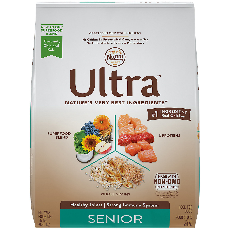 Nutro Ultra Holistic Senior Dry Dog Food 15 Lbs (12/18) (A.E1)