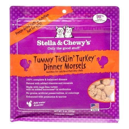 Stella & Chewys Dinner Morsels Grain-Free Turkey Freeze Dried Cat Food, 9 oz (1/19) (T.D14)