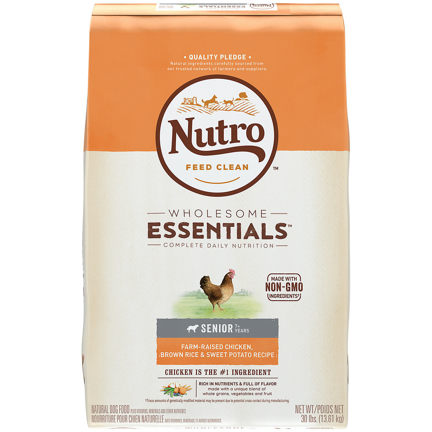 Nutro Natural Choice Chicken, Whole Brown Rice & Oatmeal Senior Dog Food, 30 lbs (A.M5)