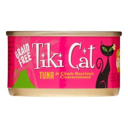Tiki Cat Lanai Grill Tuna Crab Surimi Wet Cat Food, 2.8 oz., Case of 12 (10/20) (A.J2)
