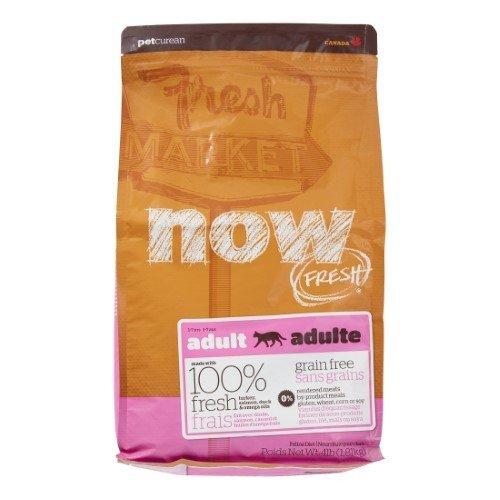 Petcurean NOW! Fresh Grain Free Food Bag for Adult Cat, Turkey, 4-lbs.  (8/18) (A.K2) ****Bulk Discounts Available**