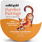 Solid Gold Purrfect Pairings Savory Mousse Whitefish & Goats Milk Wet Cat Food 1 EACH 2.75 OZ CUP (2/18)