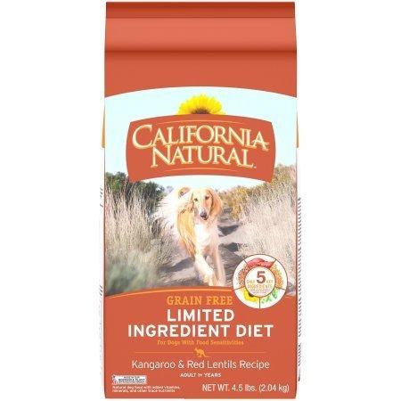 California Natural LID Grain-Free Kangaroo & Red Lentils Formula Dry Dog Food, 4.5 lbs.