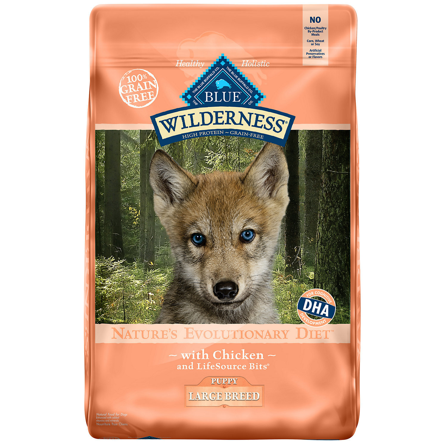 Blue Buffalo Wilderness Chicken Large Breed Puppy Food, 22 lbs.