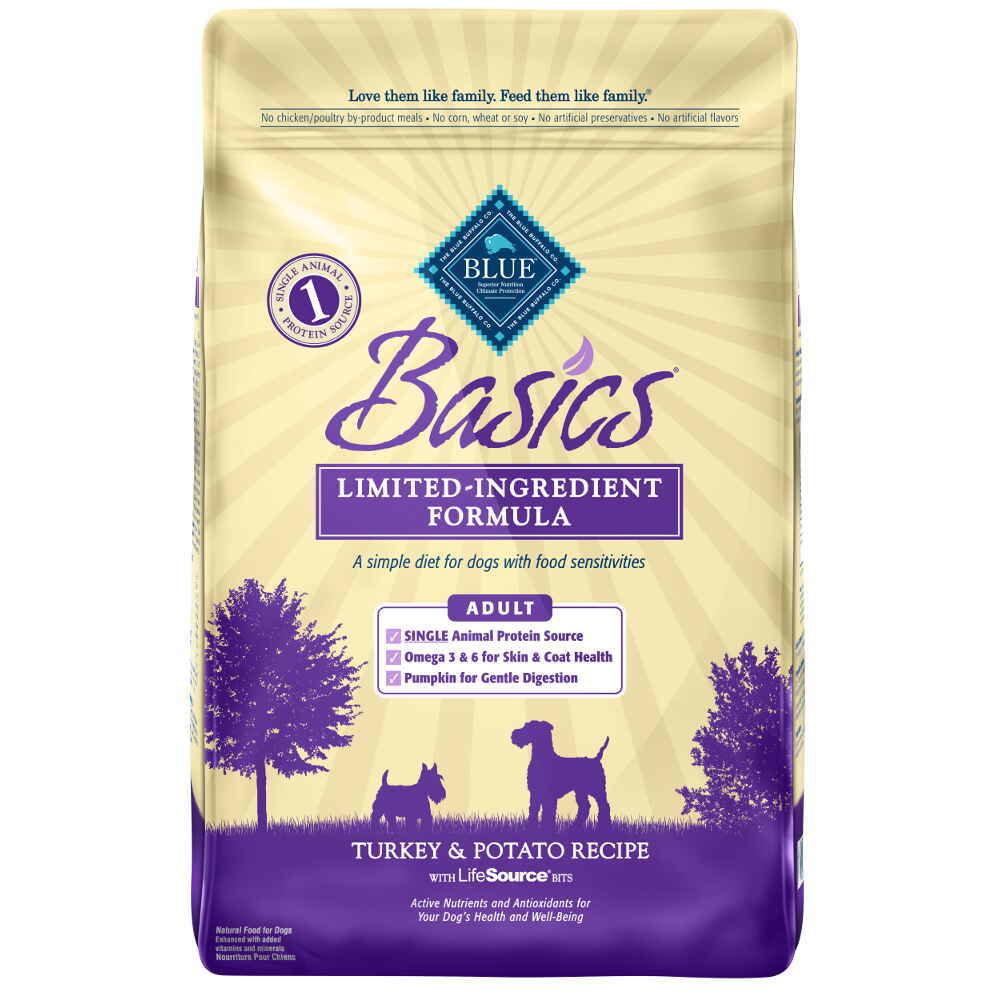 Blue Buffalo Basics All Breeds Adult Dog Turkey & Potato Recipe 24 lb.