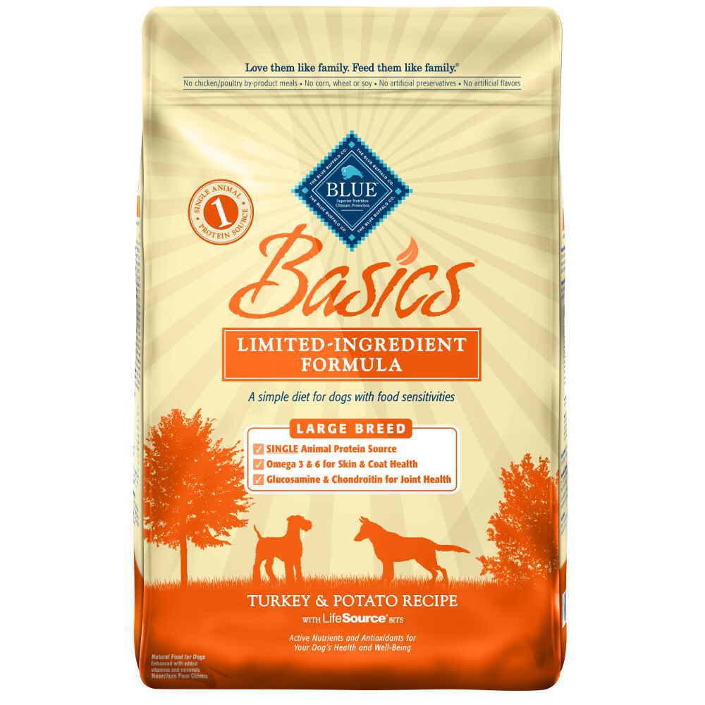 Blue Buffalo Basics Large Breed Adult Turkey & Potato Recipe 24 lb.