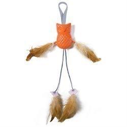 "Petlinks System Door Dangler Flutter Flapper Owl Cat Toy, 1.5"" L X 5"" W X 10"" H   (B.A13)"