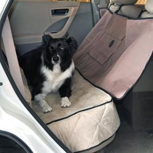 "K&H Deluxe Tan Car Seat Saver, 54"" L X 58"" W  (B.D2/PR)"