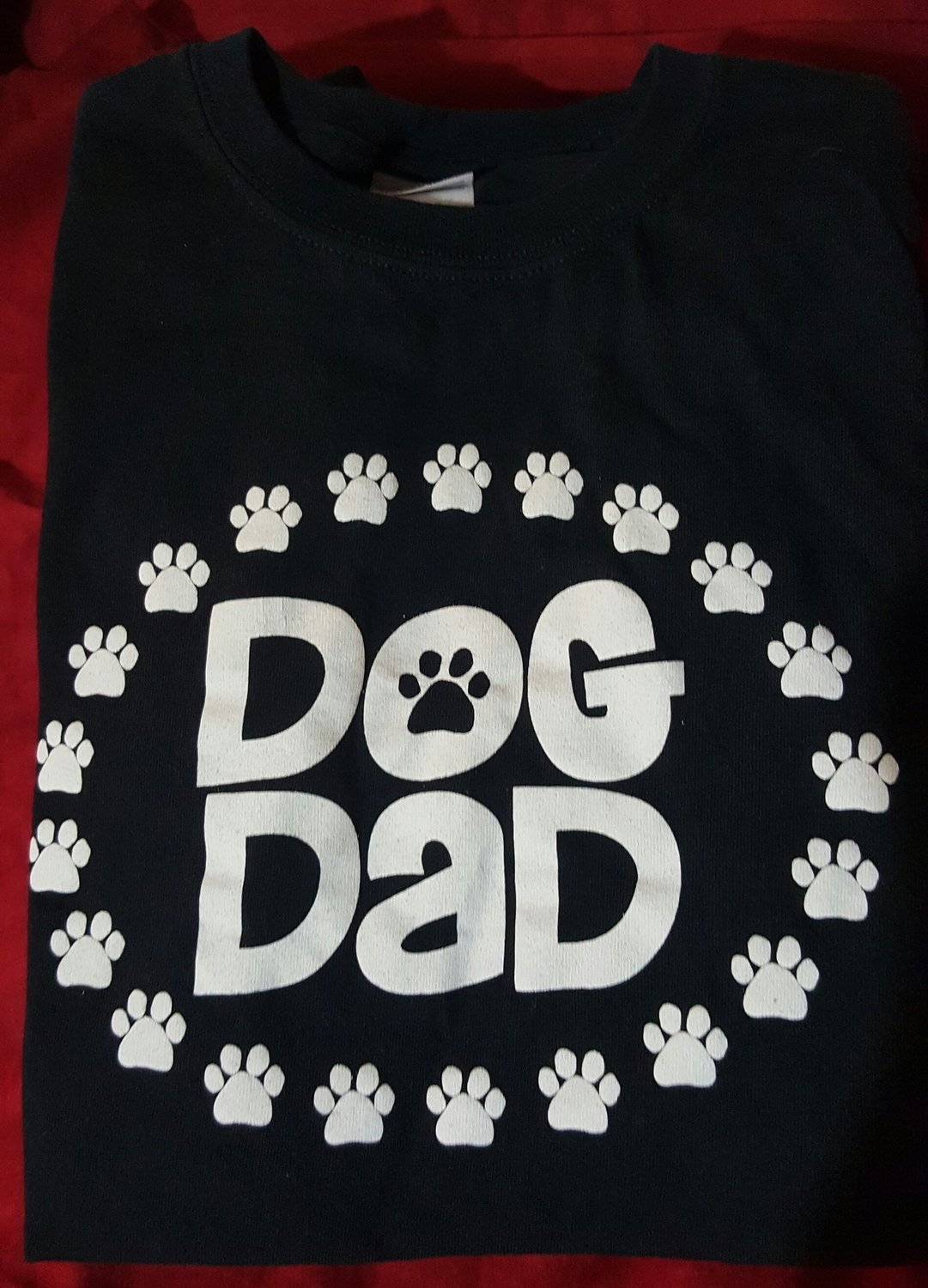 Dog Dad T-Shirt Black - Small Only (RPAL126)